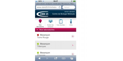 Version mobile du site internet www.cbm25.fr